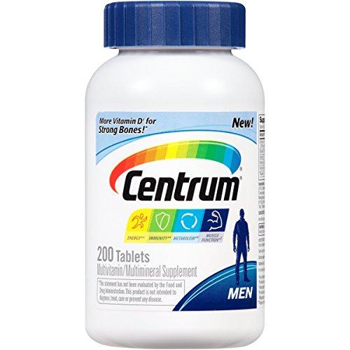 Centrum Men Multivitamin / Multimineral Supplement Tablet, Vitamin D3 (200 Count) (Package May Vary)