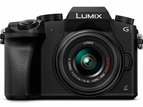 - PANASONIC LUMIX G7 4K Digital Camera, with LUMIX G VARIO 14-42mm MEGA O.I.S. Lens, 16 Megapixel Mirrorless Camera, 3-Inch LCD, DMC-G7KK (Black)