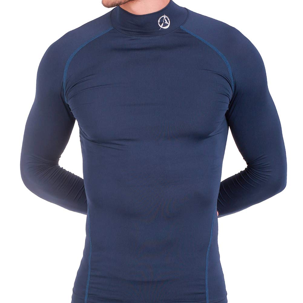 ARMEDES Mens Mock Long-Sleeved T-Shirt Cool Dry Compression Baselayer AR-151/53