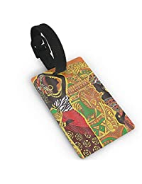 African Women Luggage Tags Travel Identifier Labels with Name ID Card for Bags & Baggage