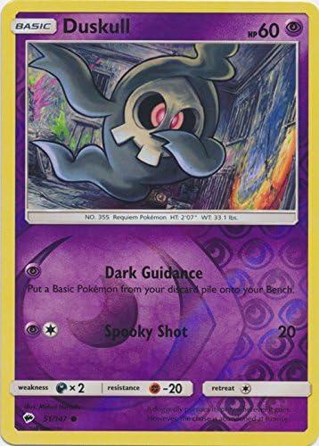 Reverse Holo Common Duskull Pokemon Card Burning Shadows 51//147