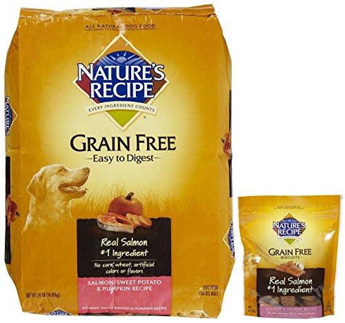Nature's Recipe Grain Free Salmon + Grain-Free Salmon Biscuits Bundle