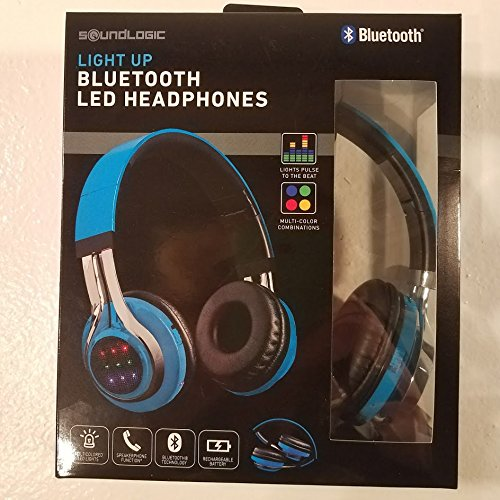 Click to buy Soundlogic Wireless Bluetooth LED Headphones Blue - From only $34.99