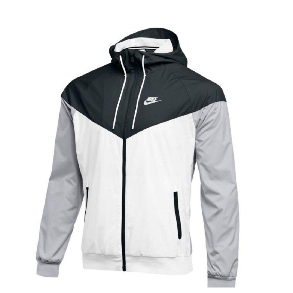 NIKE Mens Workout Jacket (X-Large, Black/Team White/Wolf Grey/White)