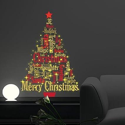 Christmas Decorations Wall Stickers Magic Glow In Dark English