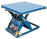Vestil AHLT-2448-3-43 Steel Air Hydraulic Scissor Lift Table, 3000 lb., 7'' Height