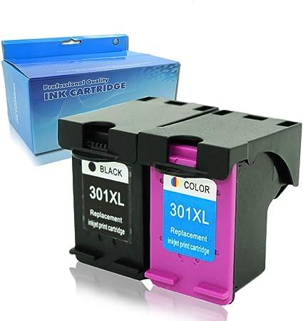 Gran Capacidad Reemplazo para HP 301 301 x l Cartuchos de Tinta compatibles con HP Deskjet 1000 1050 1050 A 2000 2050 2050 A 2054 A 2510 2540 3000 3050 3050 A 3052 A 3054 A 3055 A: Amazon.es: Oficina y papelería