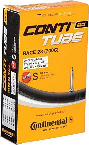 Continental 700 x 18-25mm 60mm Presta Valve Tube 2 Pack