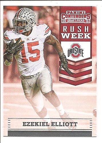 Ezekiel Elliott Dallas Cowboys / Ohio State 2016 Panini Contenders Draft Picks Rush Week Rookie Football Card #1