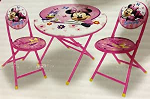Amazon.com: Disney Minnie Mouse Folding Table and Chairs ...