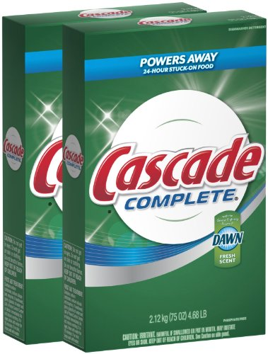 Cascade Complete Powder All-in-1 Dishwasher Detergent - 75 o