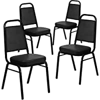 4-Pack Flash Furniture Hercules Trapezoidal Back Stacking Banquet Chair