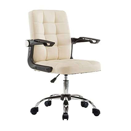 Off white office chair Desk Chairs Laxfstool Office Chair High Back Computer Desk Chair Pu Leather Adjustable Chair Ergonomic Amazoncom Amazoncom Laxfstool Office Chair High Back Computer Desk Chair