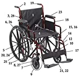 Drive Replacement Parts (Each Part Sold Seperately) Rebel Wheelchair RTLREB18 - 20. Brake Fixed Arm -Right