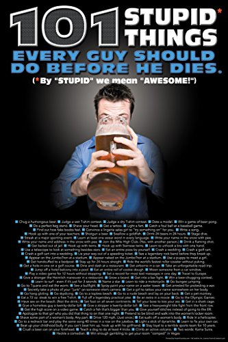 101 Stupid Things Every Guy Should Do Before He Dies Funny Poster