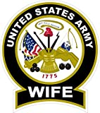 1 Set Heart stopping Unique United States Army Wife 1775 This We'll Defend Sticker Signs Windows Home Outdoor Wall Hoverboard Bike Patches Decals Trucks Window Decor Graphics Racing Decal Size 4.5''x5''