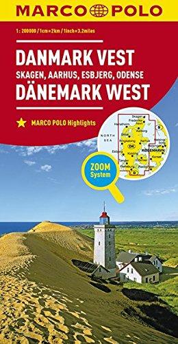 MARCO POLO Karte Dänemark West 1:200 000: Skagen, Aarhus, Esbjerg, Odense (MARCO POLO Karten 1:200.000)