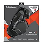 SteelSeries Arctis 7 Lag-Free Wireless Gaming Headset with DTS Headphone:X 7.1 Surround for PC, PlayStation 4, VR, Mac and Wired for Xbox One, Android and iOS - Black