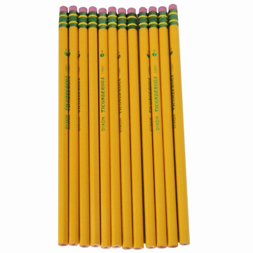 (Dixon Ticonderoga Company Ticonderoga Pencil, with Eraser, No 1, Extra Soft, Yellow)