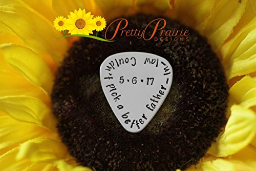 Father in Law Gift - Guitar Pick - Personalized Guitar Pick - Hand Stamped Pick - Guitar Lover Present - Custom Guitarist Present