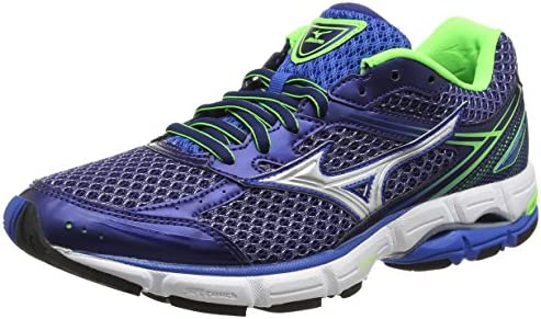 Mizuno Wave Connect 3, Zapatillas de Running para Hombre, Blue Skydiver Silver Green Gecko, 43 EU: Amazon.es: Zapatos y complementos