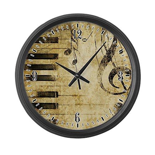 (Large Wall Clock Musician Piano Keys Music Notes)