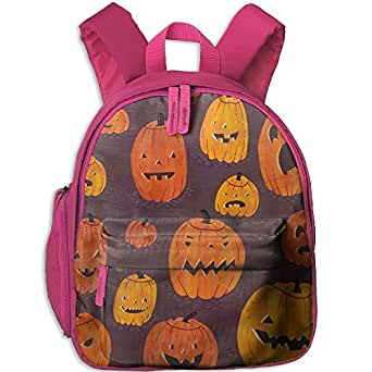 Cloogen Pumkin Halloween Students Backpacks For Teen Girls Kids Bookbag
