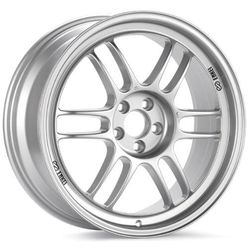 15x7 Enkei RPF1 (F1 Silver) Wheels/Rims 4x100 (Enkei Rpf1 Wheel)