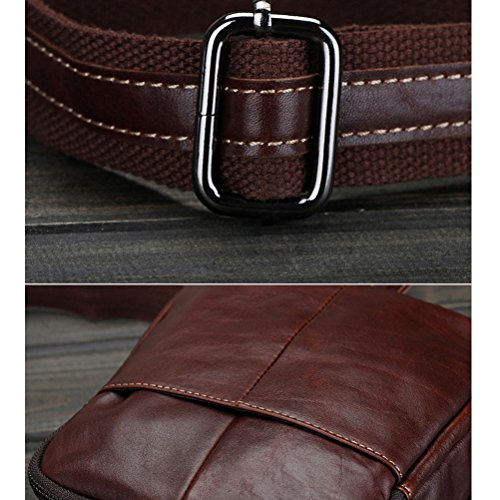 Zhuhaitf alta calidad Mens Lightweight Durable Crossbody First Layer Cowhide Shoulder Bag Sling Bag Backpack