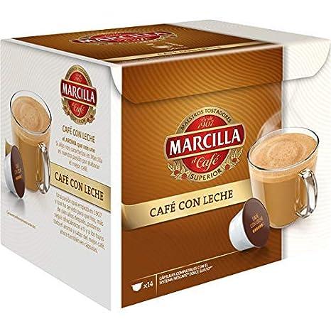 Marcilla Café con Leche Cápsulas Compatibles con las Cafeteras ...