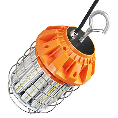 Dephen 125W Led Portable Work Light, 5000K 360 Degree Flood Light Fixture, Stainless Steel Guard, IP65 Waterproof for Indoor and Outdoor Lighting by dephen (Image #2)