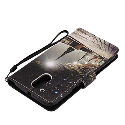 für Moto G4 / G4 Plus Hülle, Klappetui Flip Cover Tasche Leder [Kartenfächer] Schutzhülle Lederbrieftasche Executive Design +Staubstecker (6EE) 5