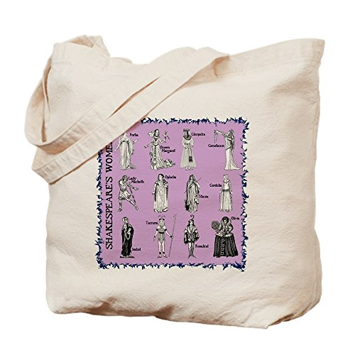CafePress Shakespeare's Women Square Natural Canvas Tote Bag, Cloth Shopping Bag