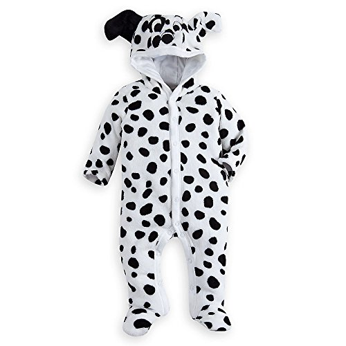 Disney 101 Dalmatians Costume Romper Baby 0-3 Months White (Dalmatian Costumes For Toddlers)