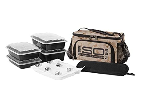 Isolator Fitness 2 Meal ISOMINI Meal Prep Management Insulated Lunch Bag  Cooler With 4 Stackable Meal 82db15163f