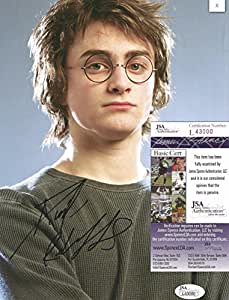 HARRY POTTER DANIEL RADCLIFFE SIGNED 8X10 PHOTO WITH JSA COA