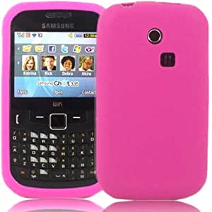 Silicona Caso Cubrir Concha Para Samsung Ch@t Chat 335 S3350 / Pink