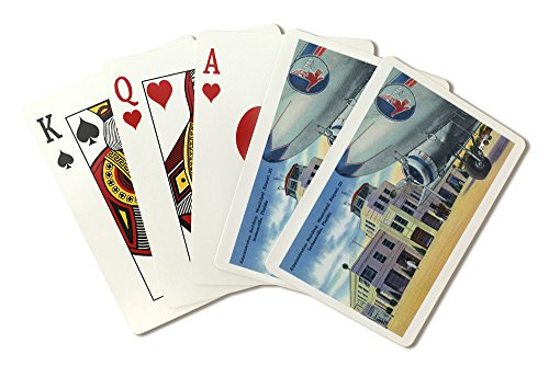 - Jacksonville, Florida - Municipal Airport Administration Building (Playing Card Deck - 52 Card Poker Size with Jokers)
