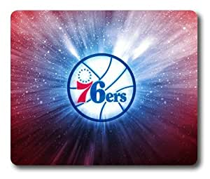 NBA Philadelphia 76ers Logo Mouse Pad/Mouse Mat Rectangle by ieasycenter
