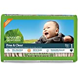 Seventh Generation Baby Diapers, Free and Clear for Sensitive Skin, Original Unprinted, Size 1, 160 Count