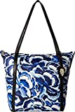 Tommy Bahama Womens Siesta Key Tote Pretty Petals Blues One Size