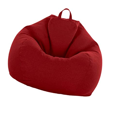 Superb Fityle Adult Size Bean Bag Cover Large Beanbag Without Filling Children Stuffed Animal Toys Storage Beanbag Covers Only Wine Red Camellatalisay Diy Chair Ideas Camellatalisaycom