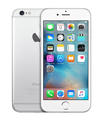 Apple iPhone 6 128GB Factory Unlocked GSM Smartphone w/ 8MP Camera - Silver (Certified Refurbished) (Iphone 6 128 Gb Unlocked Silver)