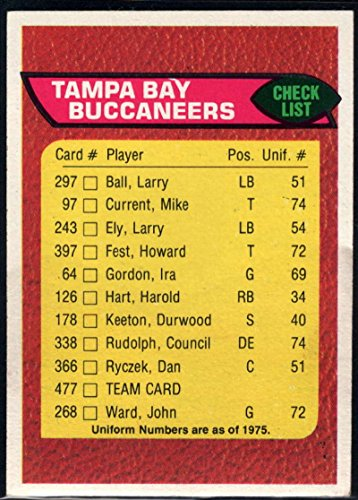 Football NFL 1976 Topps #477 Tampa Bay Buccaneers CL Buccaneers