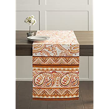 Maison Du0027 Hermine Palatial Paisley 100% Cotton Table Runner 14.50   Inch By  72