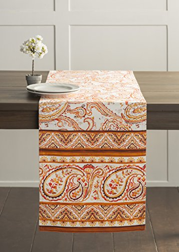 Paisley Table Runner - Maison d' Hermine Palatial Paisley 100% Cotton Table Runner 14.50 - Inch by 72 - Inch.