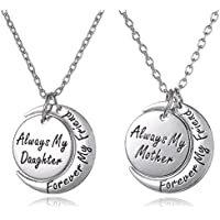 Set of 2 Always My Daughter Forever my Friend/Always my Mother Forever my Friend Inscribed Silver Tone Matching...