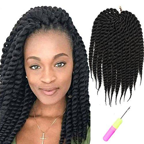 "[Mirra's Mirror 6Packs 12"" 100% Kanekalon Havana Twist Crochet Hair Mambo Twist Senegalese Crochet Braids Braiding Hair 75gram/12 roots/Pack] (Twist Pack)"