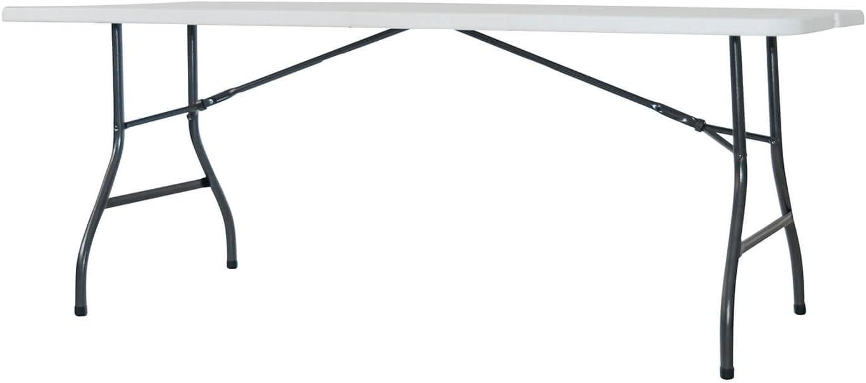 Newstorm OSKAR180 Set De Mesa Plegable Tipo Maleta, Blanco/Gris Oscuro: Amazon.es: Jardín