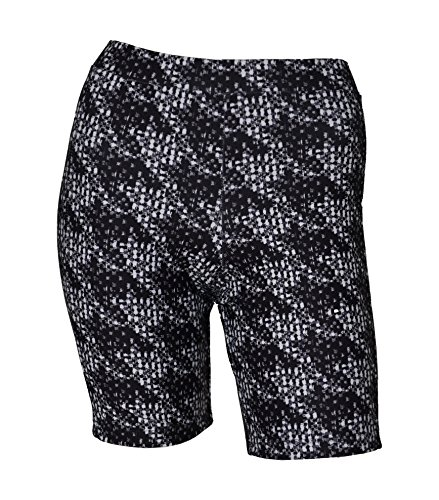 (Private Island Hawaii Women UV Rash Guard Skinny Shorts Pants Leggings, Workout Outdoor Yoga/Fitness/Running Clothing (Small,)